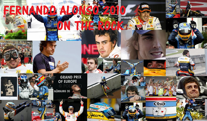 FERNANDO ALONSO ON THE ROCK