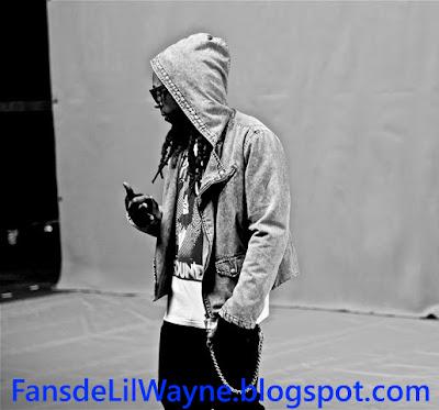 Imagen de Lil Wayne en el rodaje de No Love