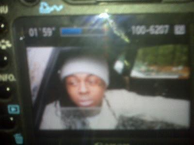 Imagen de Lil Wayne saliendo de la carcel