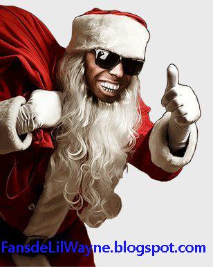 Imagen de Lil Wayne como Papa Noel