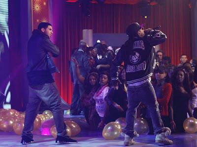 Imagen de Lil Wayne y Drake en la actuacion de 106 & Park