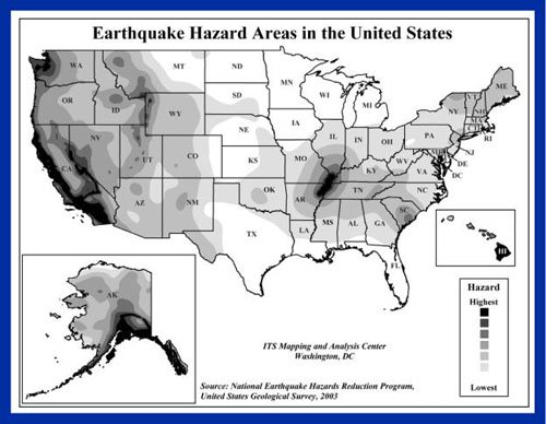 United States Risk of an Earthquake
