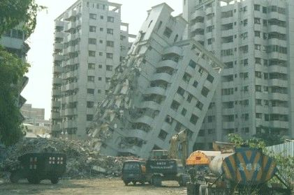 Building Struck By an Earthquake