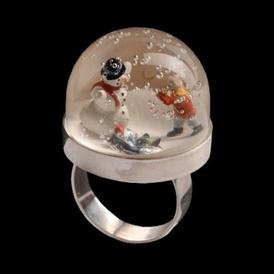 Snow Globe Rings The Beading Gem S Journal