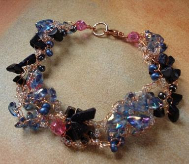 Jewelry and Beaded Crafts! Tutorial - Crocheted Beaded Bracelet