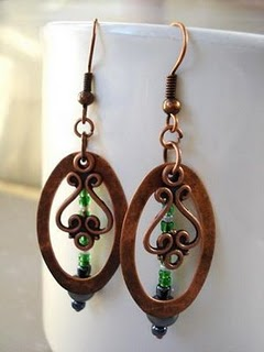 Earring Design Ideas sapphire vintage glass pear jewel earrings with chains and green garnets Swingin Earrings Part 2 Of 3 I Like To Quote This Saying Every Chance I Get To Teach Is To Learn Twice Joseph Joubert French Author 1755 1824