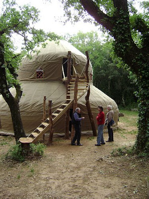 Several attendees brought their own, hand crafted yurts, that they set up