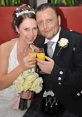 Newly-weds Andy and Claire Loates