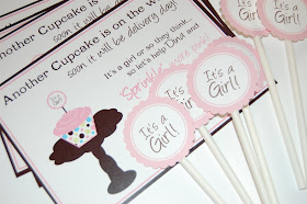 Cupcake Invitation & Toppers