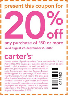 photo regarding Carters Printable Coupons titled Carters discount coupons off clearance - Elegance specials in just kothrud pune