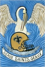 Artist Alex Beard celebrates the New Orleans Saints