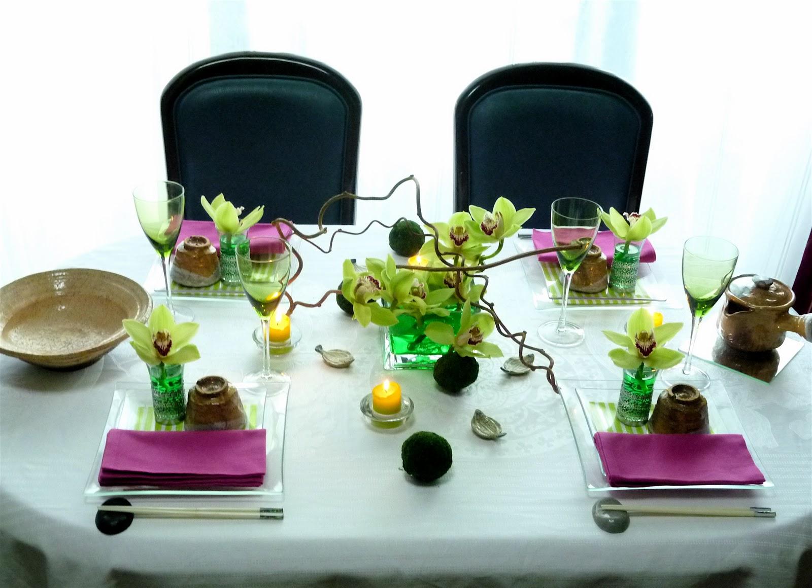 table de france  japanese fusion table decoration