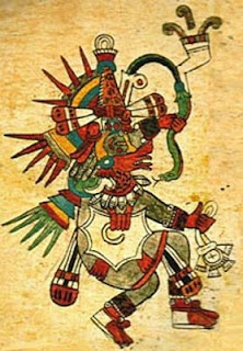 Quetzlcoatl, from the Codex Borbonicus, written by Aztec priests around the time of the Spanish conquest of Mexico.