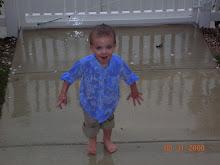 Max in the rain