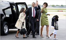 Michelle, Sacha, Malia and Barack Obama