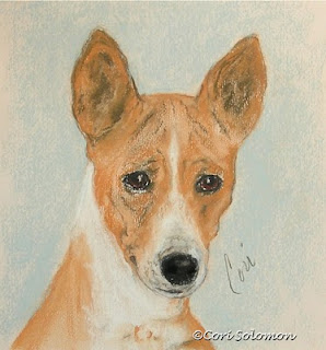 Basenji Dog Art The Mighty Hunter by Cori Solomon