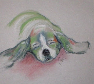 Blissful Dreams III - Basset Hound Puppy by Cori Solomon