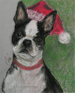 Boston Terrier - A Christmas Terrier by Cori Solomon