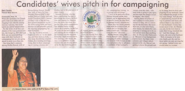 Candidates' wives pitch in for campaigning