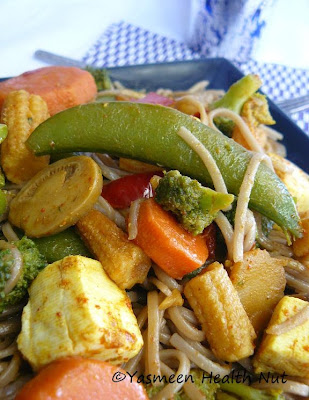 Yasmeen Health Nut: Soba Noodles Tofu Vegetable Stir Fry