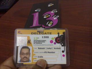 Arky delegate badge IFFK 2008