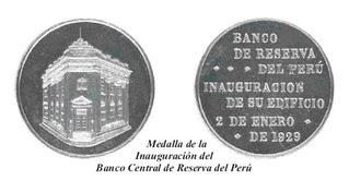 Resultado de imagen para medallas  'Banco de Reserva del Perú,