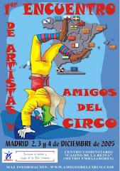 """Cartel primer encuentro """"amigos del circo"""""""