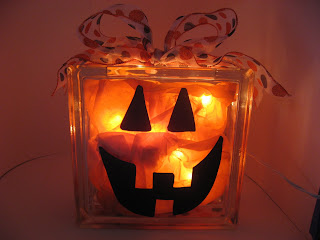 Craft Ideas Glass Blocks on This Is The No Mess Jack O Lantern To Put Out On Halloween Or For A
