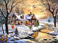 Christmas Cottage wallpapers
