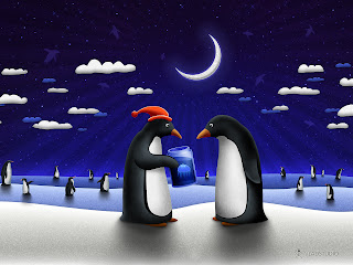 penguin's holiday pictures
