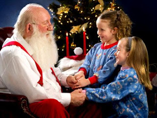 santa and kids wallpapers