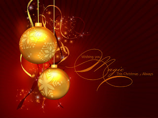 Golden Christmas Balls Wallpapers