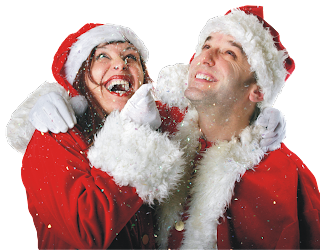 Christmas Couple Photo Wallpaper