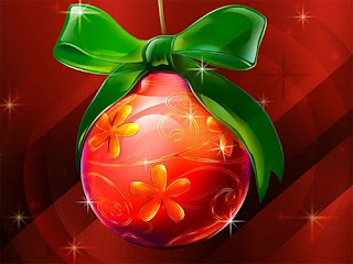 Red Christmas Ball Wallpaper