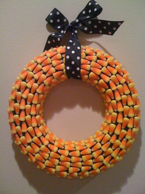 Live To Love To Craft Candy Corn Wreath