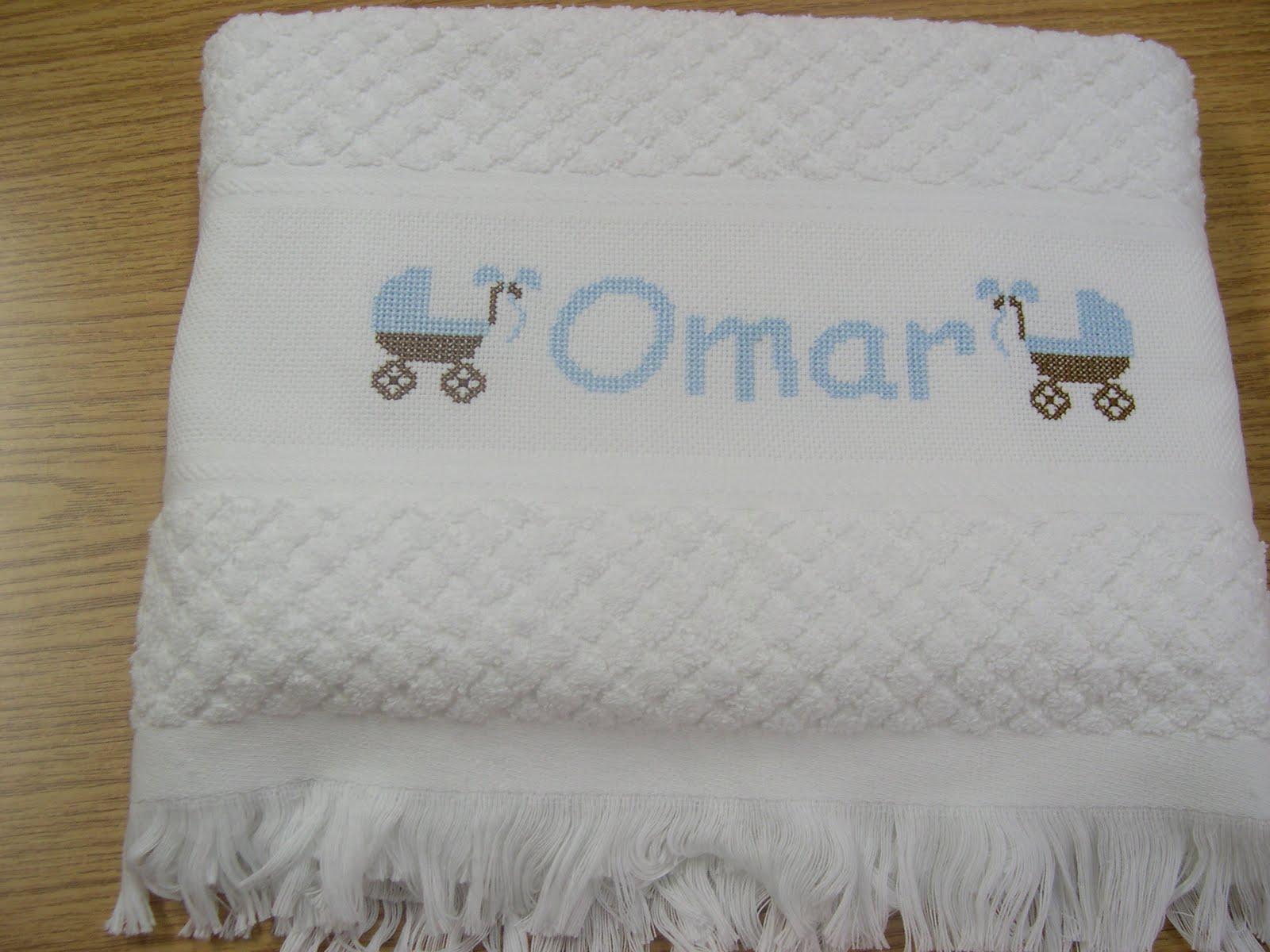 esta manana os muestro las toallas con bordado a punto de cruz para ...