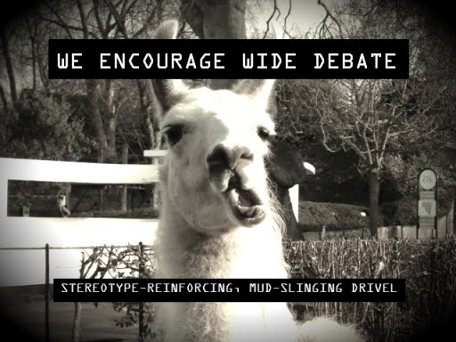 We encourage wide debate