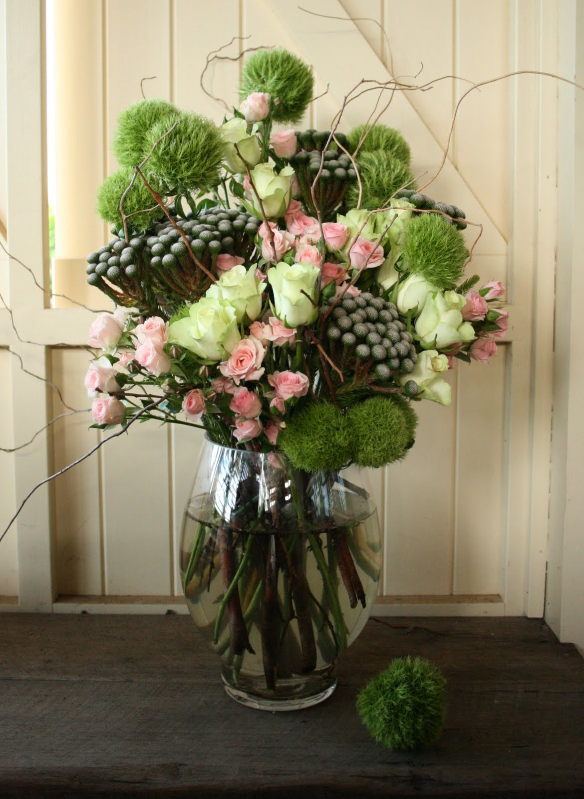 branching out floral vase arrangement spider flower