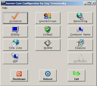 Windows server 2008 Core Configurator