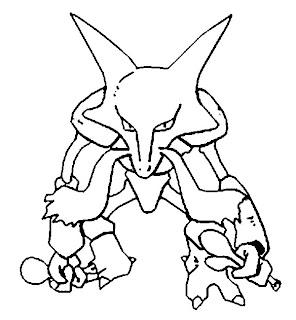 pokémon chake colorir 2 abra kadabra alakazan