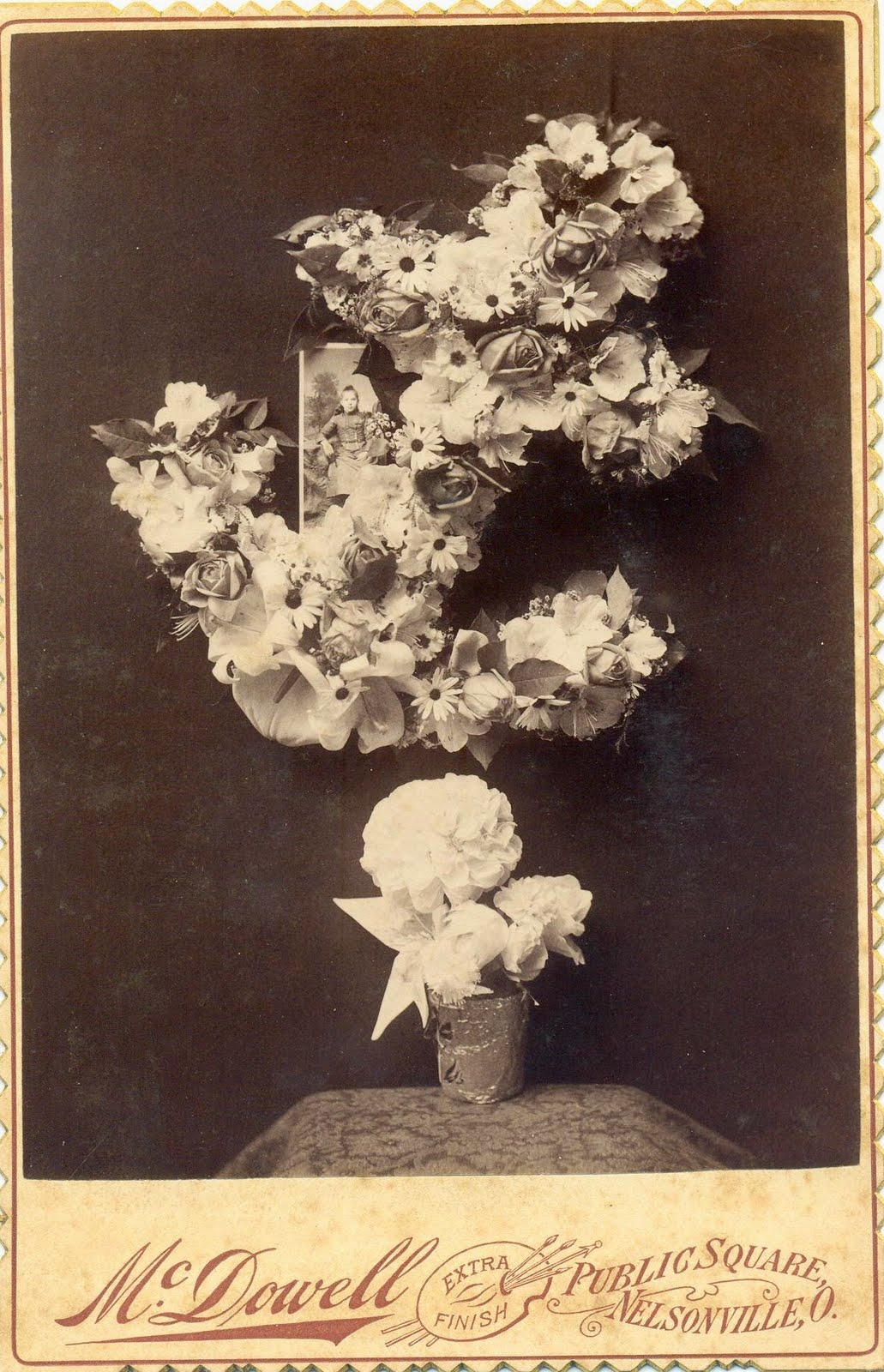A land of deepest shade funeral flowers cabinet card photographs a land of deepest shade izmirmasajfo