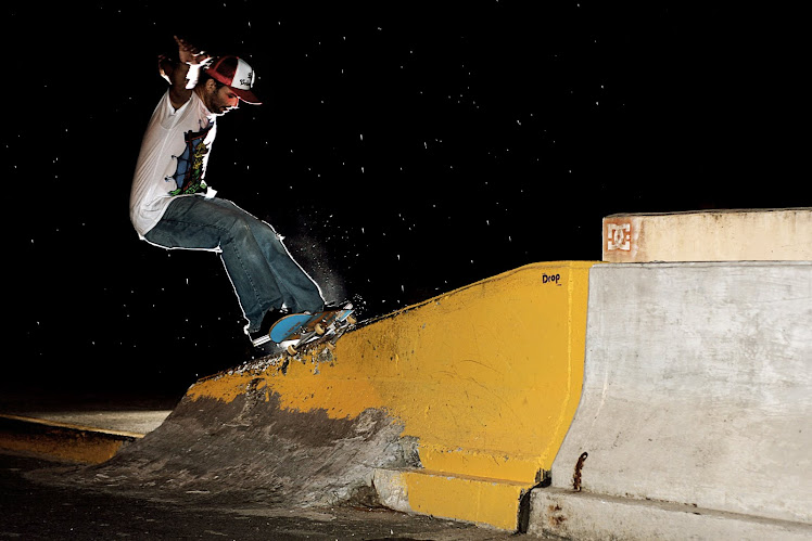 Frank Malaga/ frontside five-0