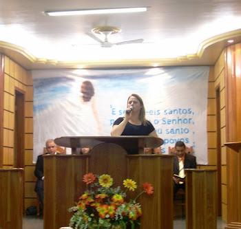 Pregando na Igreja Batista Festa das Senhoras