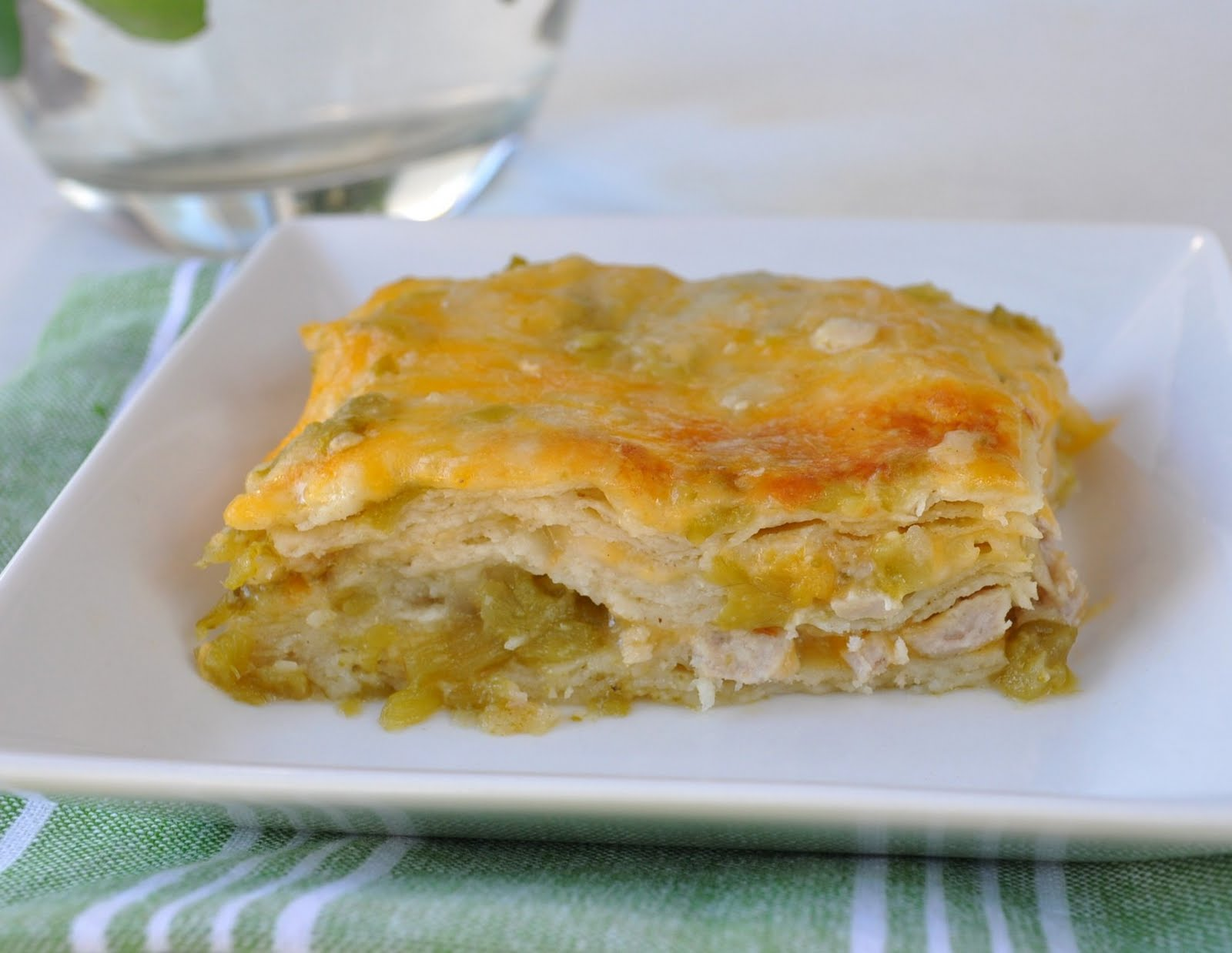 Green Chili Chicken Enchiladas Recipe — Dishmaps