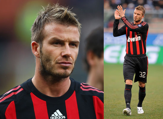 david beckham in ac milan