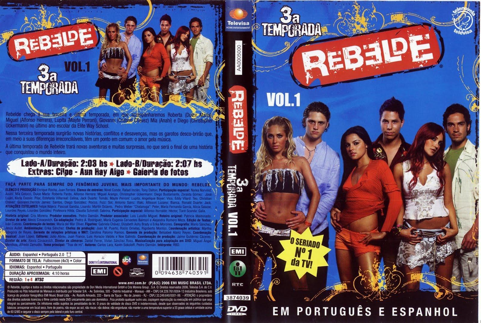 1 temporada rebelde: