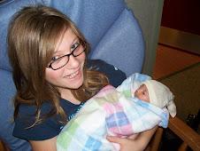 Big sis Lorissa holding Rachel