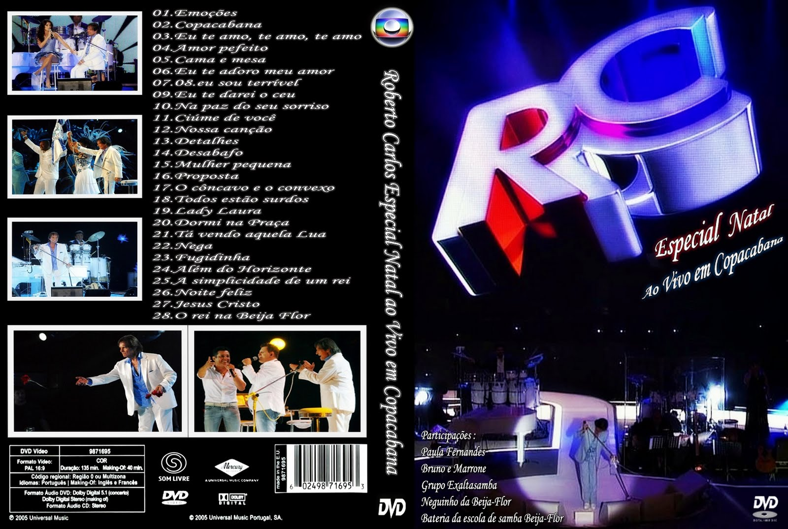 CD Roberto Carlos   Ao Vivo em Copacabana Especial de Natal