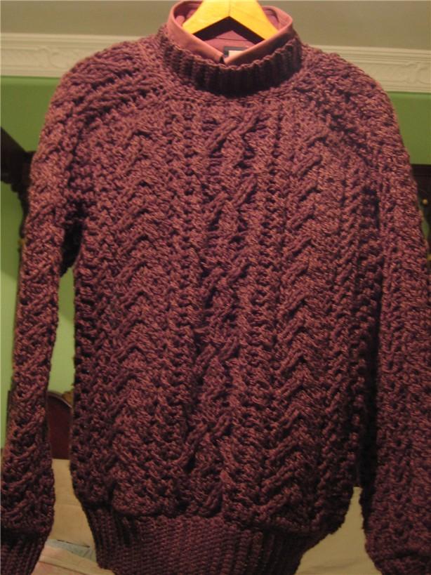 Crochet & Knit Enthusiasts: Aran Sweater for Men (fisherman)