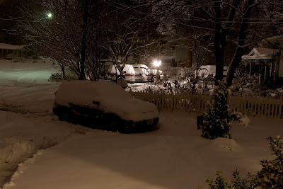 The snowfall as of 5:40am on 12/19